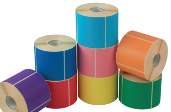 Αυτοκόλλητες ετικέτες διάφορα χρώματα